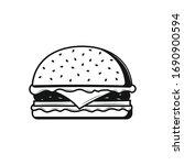 burger icon on white background.... | Shutterstock .eps vector #1690900594