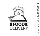 fast delivery food on white.... | Shutterstock .eps vector #1690900714