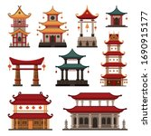 traditional chinese buildings... | Shutterstock .eps vector #1690915177