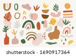 set of hand drawn shapes and... | Shutterstock .eps vector #1690917364