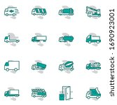 truck set of transport vector... | Shutterstock .eps vector #1690923001