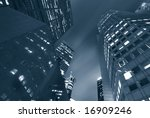 night skyline of singapore's... | Shutterstock . vector #16909246