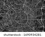 black and white vector city map ... | Shutterstock .eps vector #1690934281