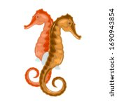 seahorse has head and neck... | Shutterstock .eps vector #1690943854