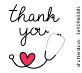 thank you doctor and nurses and ... | Shutterstock .eps vector #1690960381