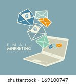 email marketing over blue... | Shutterstock .eps vector #169100747