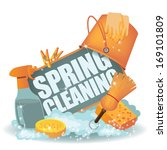 Spring Cleaning Icon. Eps 10...