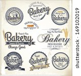 retro bakery badges and labels | Shutterstock .eps vector #169102019