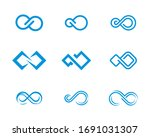 set of infinity logo vector... | Shutterstock .eps vector #1691031307