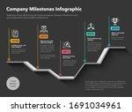 company milestones timeline...   Shutterstock .eps vector #1691034961