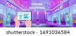 online shopping. shopping mall... | Shutterstock .eps vector #1691036584