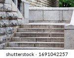 Stone Stairs Made Of Gray Roug...