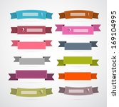 colorful retro ribbons  labels... | Shutterstock .eps vector #169104995