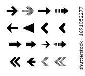 black line different arrow... | Shutterstock .eps vector #1691052277