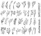 set of simple doodles of... | Shutterstock .eps vector #1691139217