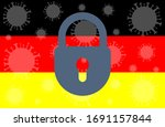germany lockdown stopping 2019... | Shutterstock .eps vector #1691157844
