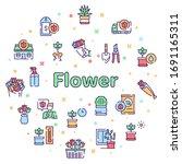 flowers symbols color linear...   Shutterstock .eps vector #1691165311