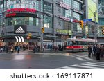 Stock photo toronto december main downtown intersection toronto is canada s largest city and sixth largest 169117871