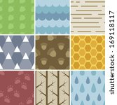 a set of 9 pastel colored...   Shutterstock . vector #169118117