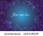 beautiful floral frame in light ... | Shutterstock .eps vector #169118339