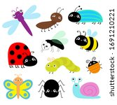 insect icon set. lady bug...   Shutterstock . vector #1691210221