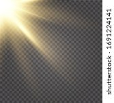 vector transparent sunlight...   Shutterstock .eps vector #1691224141