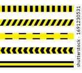 danger tapes. warning tapes.... | Shutterstock . vector #1691230531