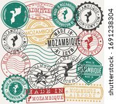 mozambique set of stamps.... | Shutterstock .eps vector #1691238304
