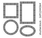 greek key border frame round ... | Shutterstock .eps vector #1691244364