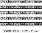 greek key seamless pattern or... | Shutterstock .eps vector #1691244367