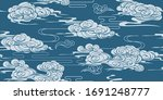 seamless pattern with  clouds...   Shutterstock .eps vector #1691248777