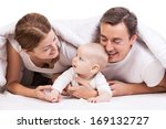 closeup of young family with... | Shutterstock . vector #169132727