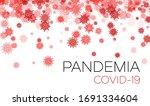 vector red coronavirus confetti ... | Shutterstock .eps vector #1691334604