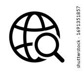 web icon. website vector icon.... | Shutterstock .eps vector #1691351857