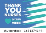 national nurses week. thank you ... | Shutterstock .eps vector #1691374144