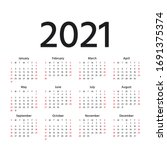 calendar 2021 year. vector.... | Shutterstock .eps vector #1691375374