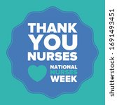 national nurses week. thank you ... | Shutterstock .eps vector #1691493451