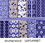 abstract floral vector set of... | Shutterstock .eps vector #169149887
