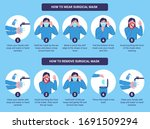 how to wear and remove surgical ... | Shutterstock .eps vector #1691509294