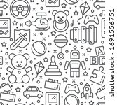 vector seamless pattern with...   Shutterstock .eps vector #1691556751