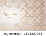 greeting card for ramadan with...   Shutterstock .eps vector #1691557081