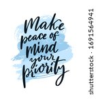 make peace of mind your... | Shutterstock .eps vector #1691564941