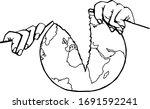 isolated line art vector... | Shutterstock .eps vector #1691592241