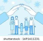 vector illustration in flat... | Shutterstock .eps vector #1691611231