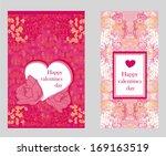 vintage style valentine day... | Shutterstock .eps vector #169163519