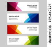 vector abstract banner web... | Shutterstock .eps vector #1691667124