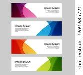 vector abstract banner web... | Shutterstock .eps vector #1691685721