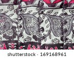 close up of floral fabric as a... | Shutterstock . vector #169168961