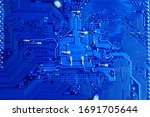 Blue Circuit Board Background...