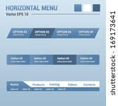 horizontal menu   website...